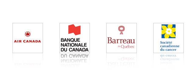 Air Canada, Banque Nationale du Canada, Barreau du Québec, Canadian Cancer Society